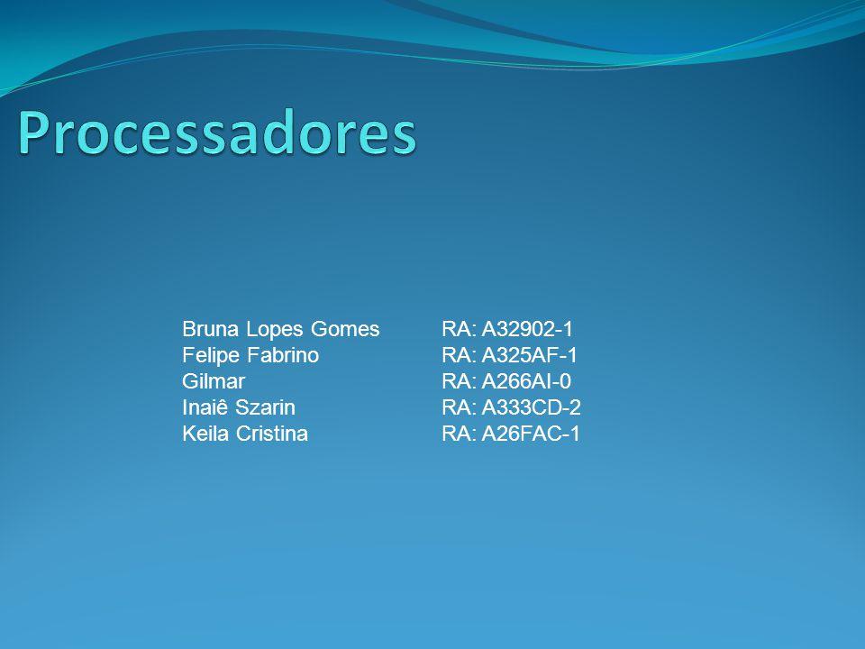 Processadores Bruna Lopes Gomes RA: A32902-1