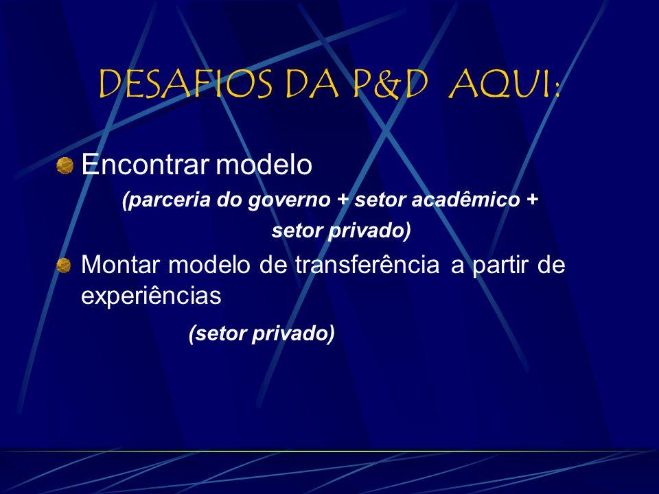 (parceria do governo + setor acadêmico +
