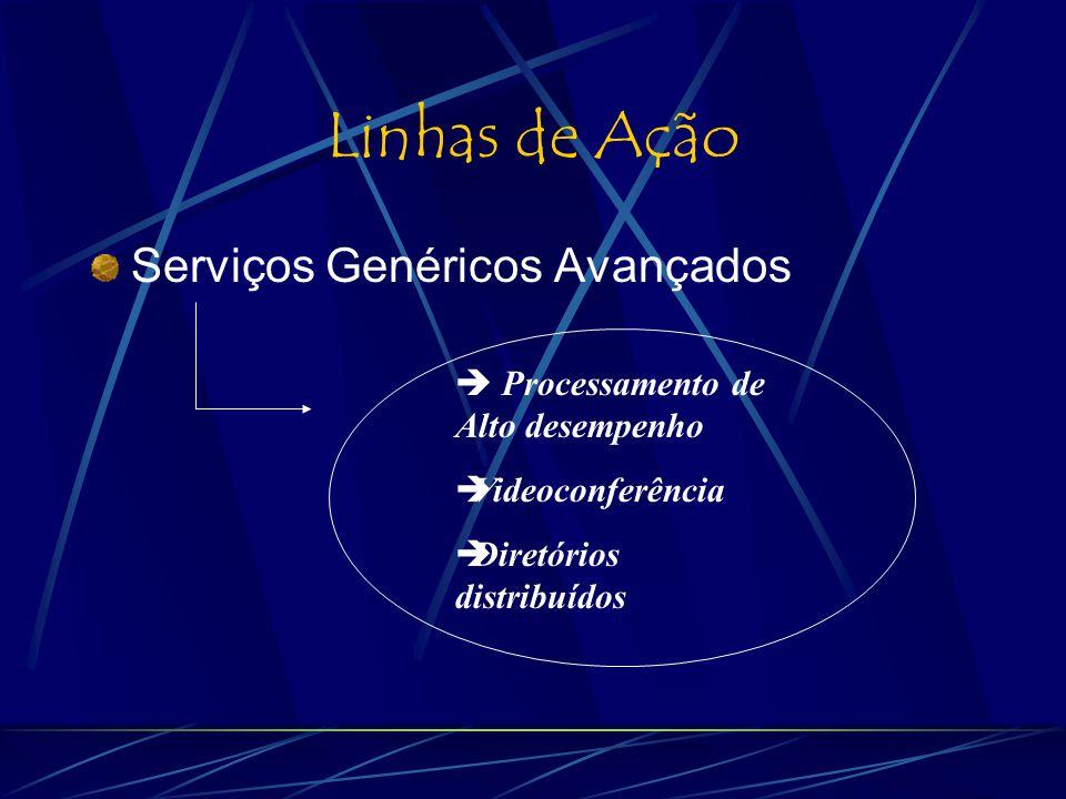 Linhas de Ação Serviços Genéricos Avançados