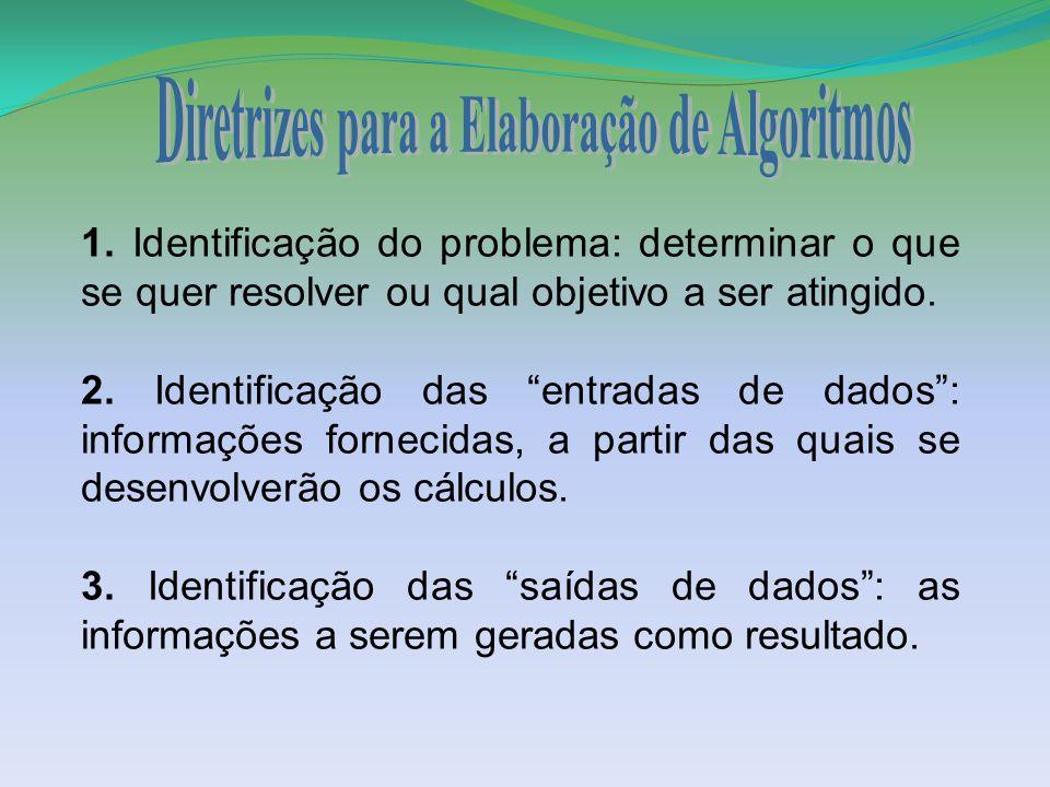 Diretrizes para a Elaboração de Algoritmos