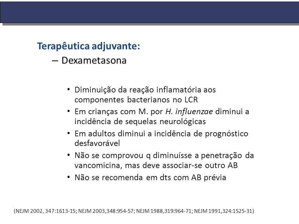 Terapêutica adjuvante: Dexametasona