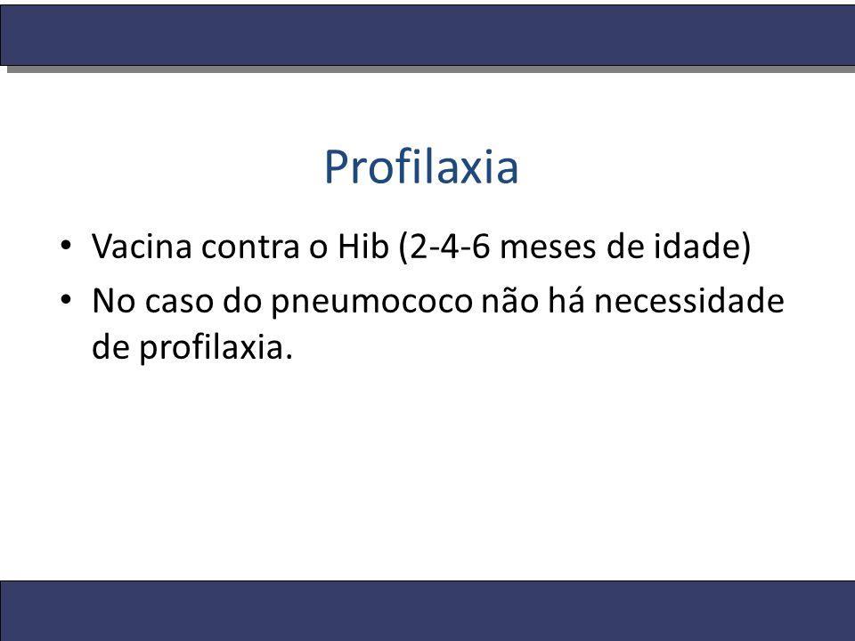 Profilaxia Vacina contra o Hib (2-4-6 meses de idade)