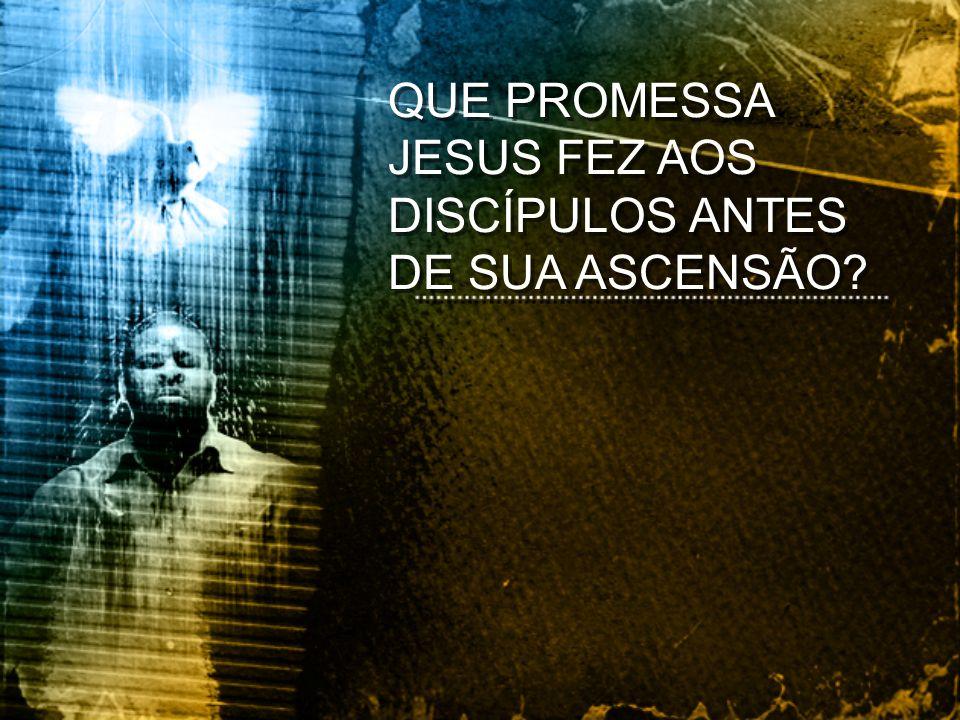 QUE PROMESSA JESUS FEZ AOS DISCÍPULOS ANTES DE SUA ASCENSÃO