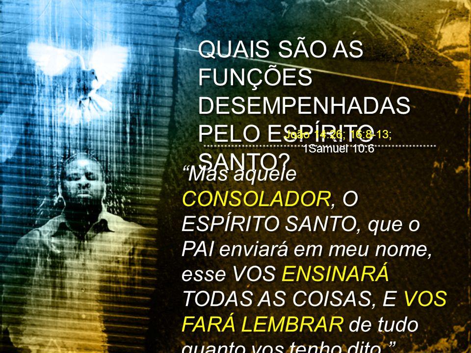 QUAIS SÃO AS FUNÇÕES DESEMPENHADAS PELO ESPÍRITO SANTO