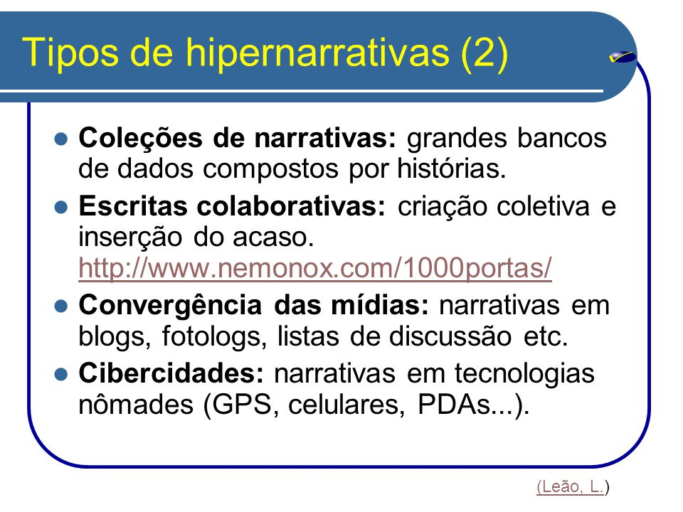 Tipos de hipernarrativas (2)