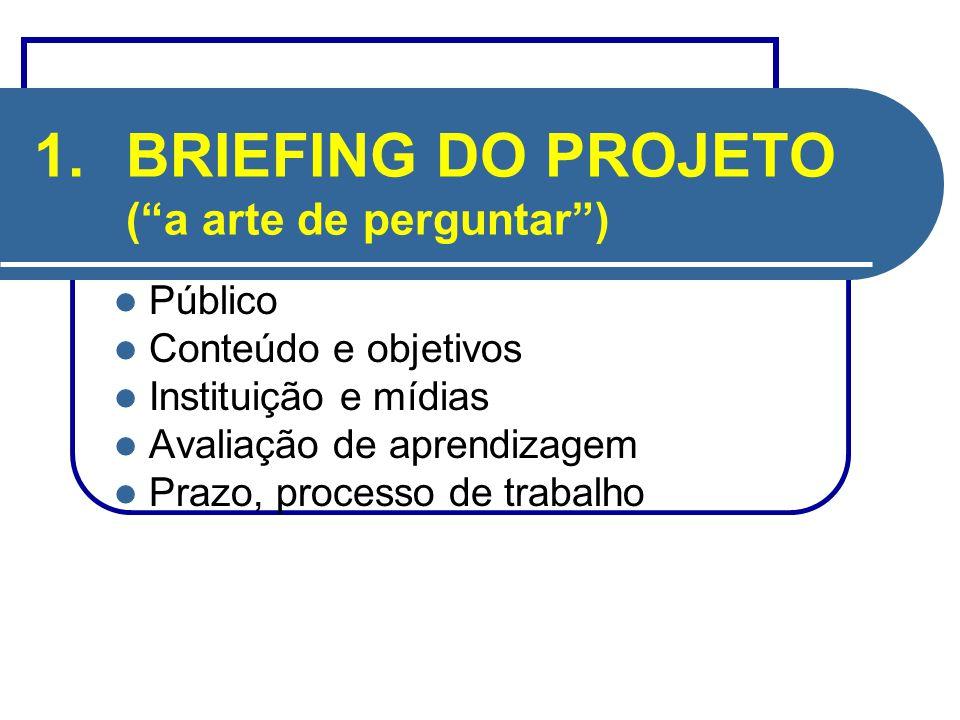 BRIEFING DO PROJETO ( a arte de perguntar )