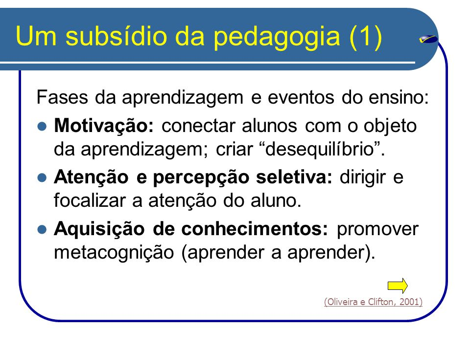 Um subsídio da pedagogia (1)