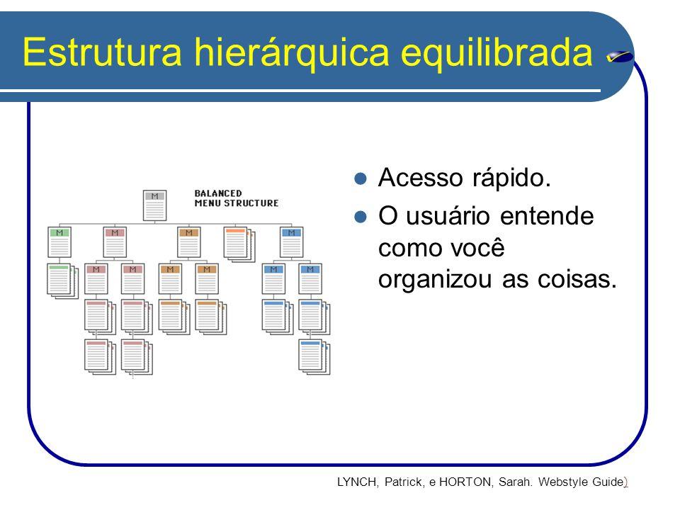 Estrutura hierárquica equilibrada