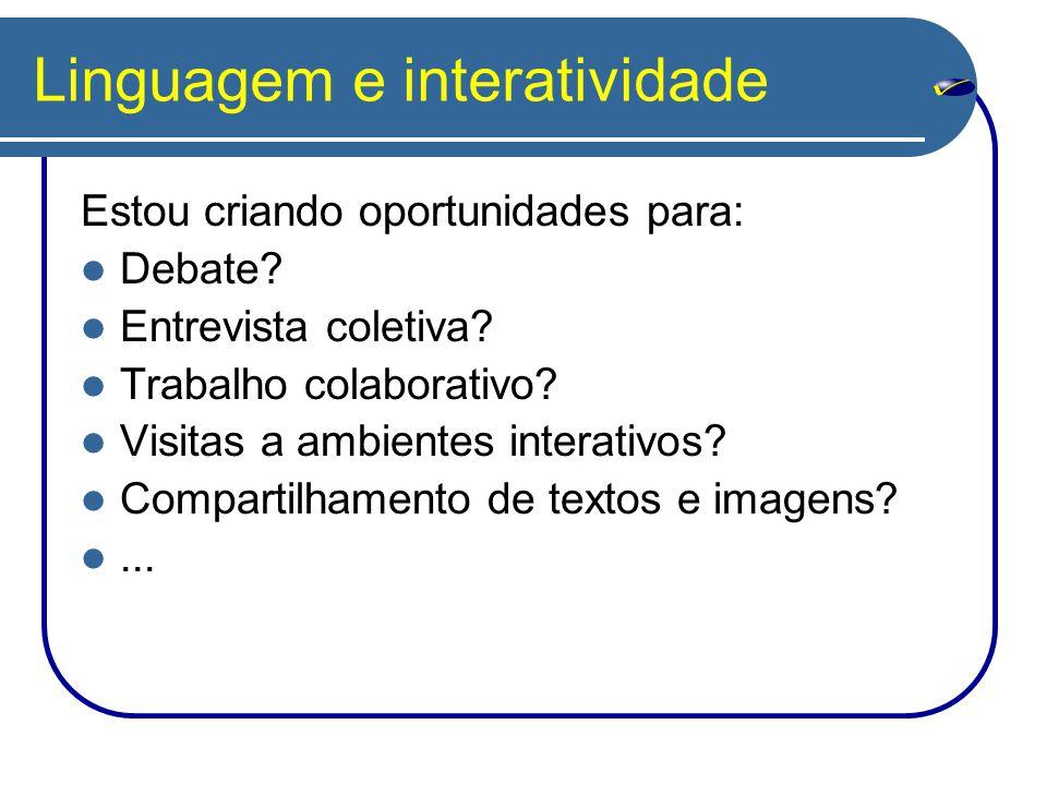 Linguagem e interatividade