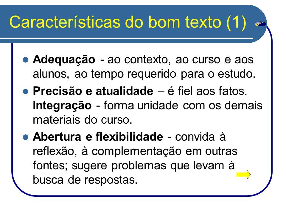 Características do bom texto (1)