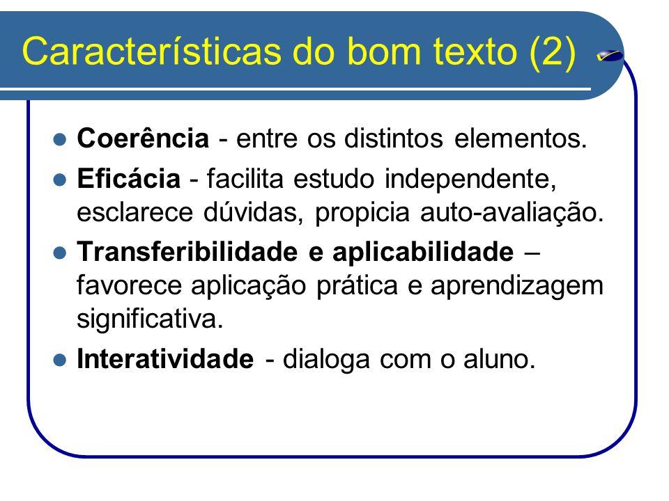 Características do bom texto (2)