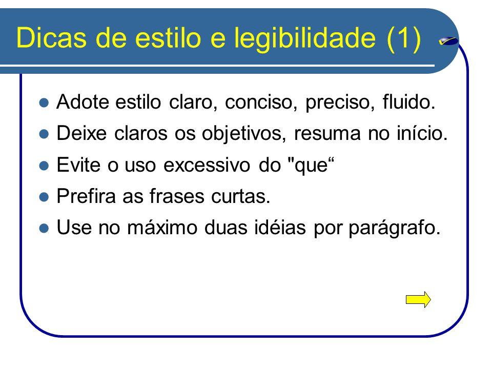 Dicas de estilo e legibilidade (1)
