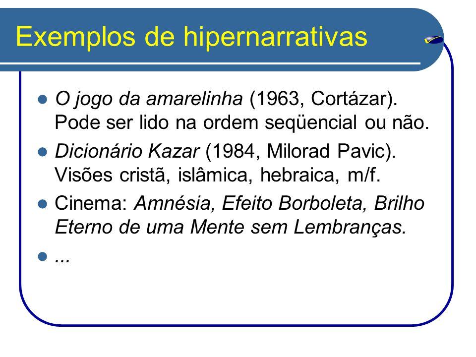 Exemplos de hipernarrativas