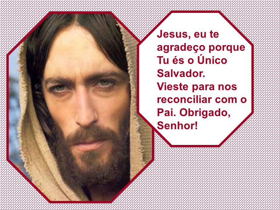 Jesus, eu te agradeço porque Tu és o Único Salvador.