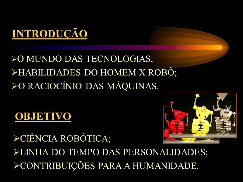 INTRODUÇÃO OBJETIVO HABILIDADES DO HOMEM X ROBÔ;