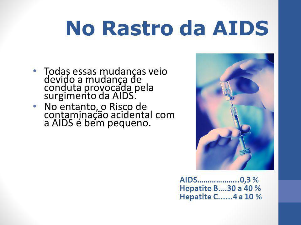 No Rastro da AIDS Todas essas mudanças veio devido a mudança de conduta provocada pela surgimento da AIDS.