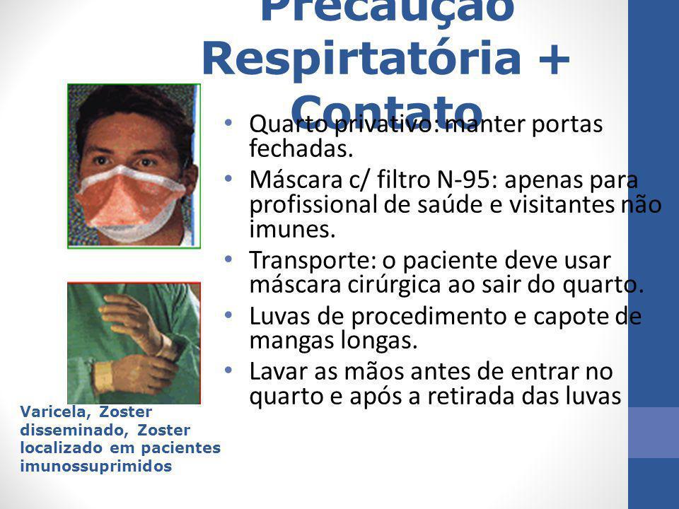 Precaução Respirtatória + Contato