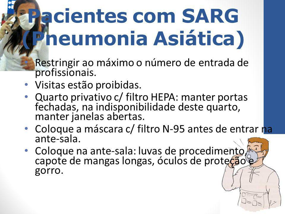 Pacientes com SARG (Pneumonia Asiática)