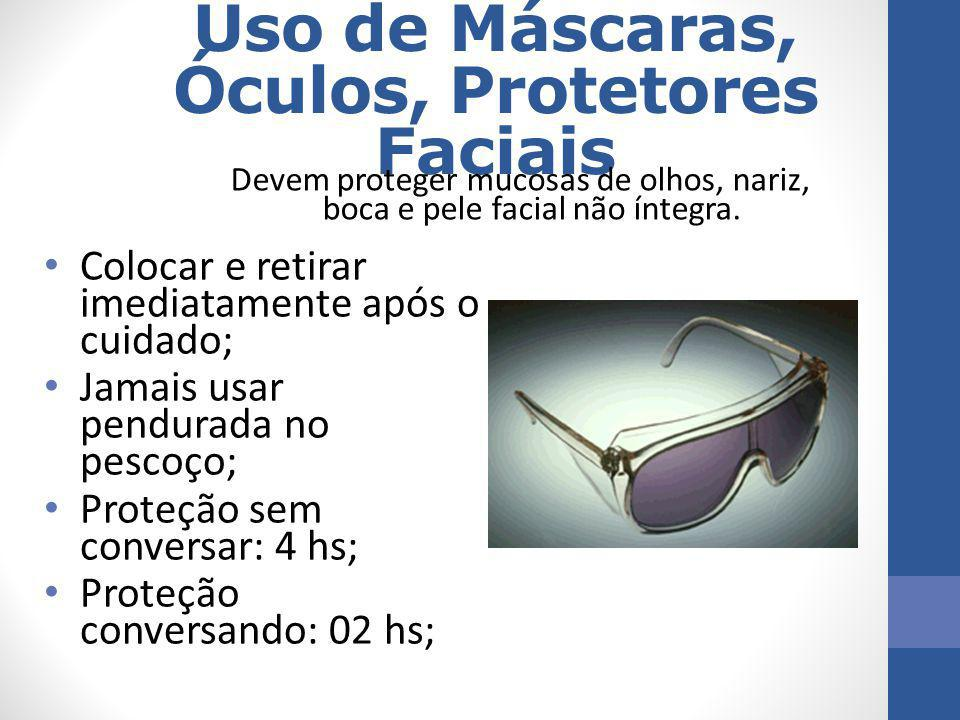 Uso de Máscaras, Óculos, Protetores Faciais