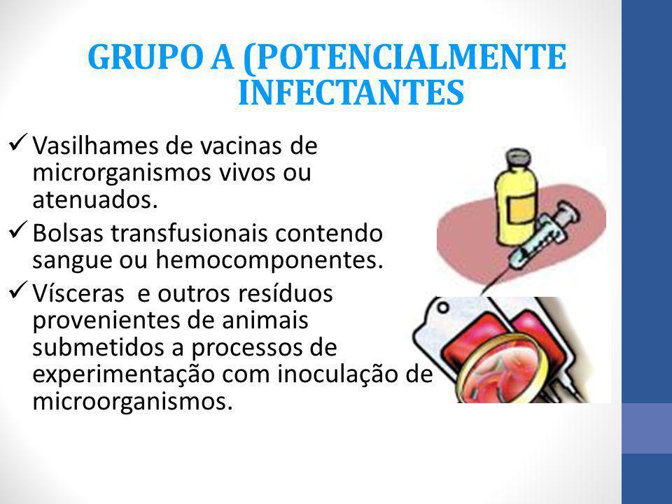 GRUPO A (POTENCIALMENTE INFECTANTES