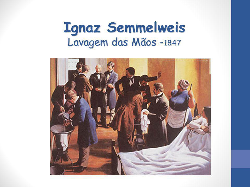 Ignaz Semmelweis Lavagem das Mãos -1847