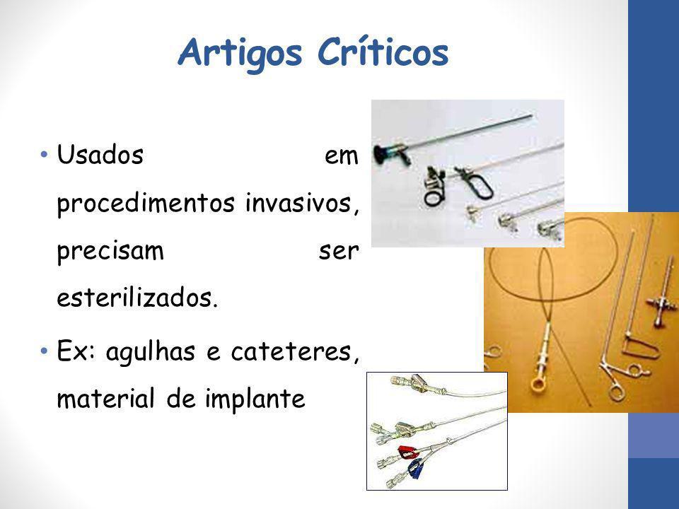 Artigos Críticos Usados em procedimentos invasivos, precisam ser esterilizados.
