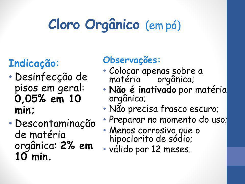 Cloro Orgânico (em pó) Indicação: