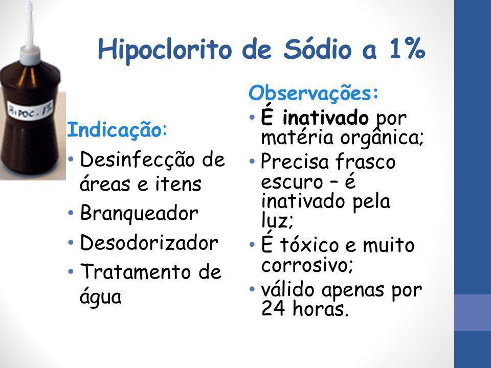 Hipoclorito de Sódio a 1%