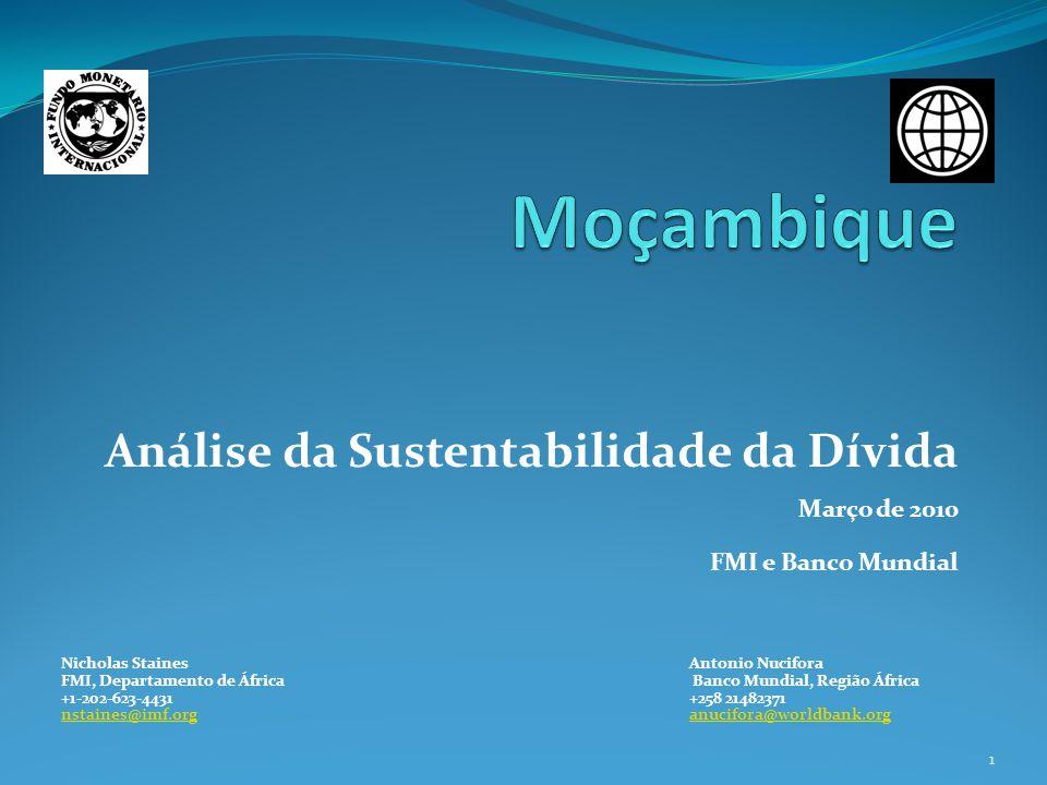Moçambique Análise da Sustentabilidade da Dívida Março de 2010