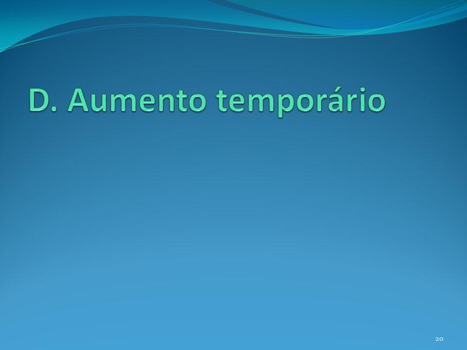 D. Aumento temporário