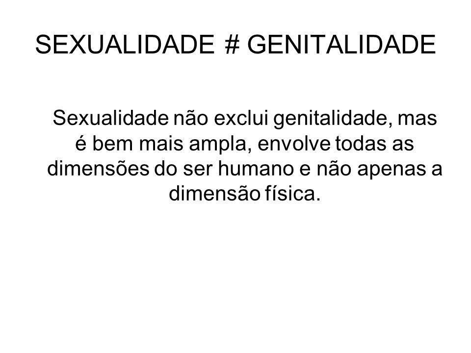 SEXUALIDADE # GENITALIDADE