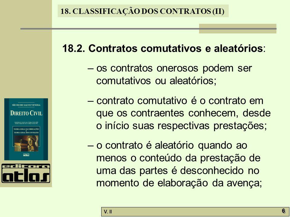 18.2. Contratos comutativos e aleatórios: