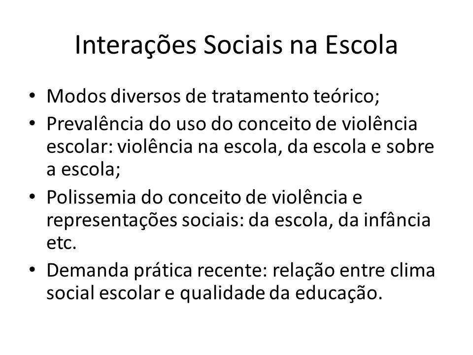 Interações Sociais na Escola
