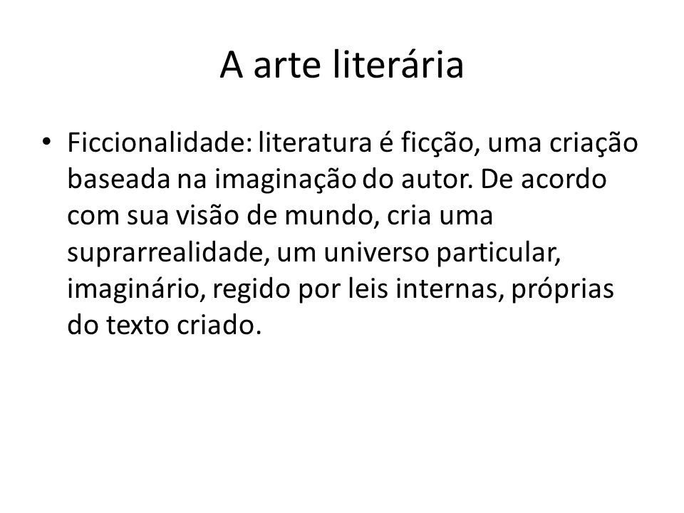 A arte literária