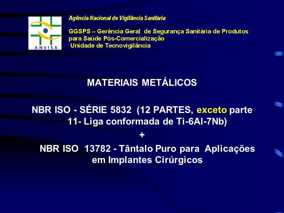 NBR ISO 13782 - Tântalo Puro para Aplicações em Implantes Cirúrgicos