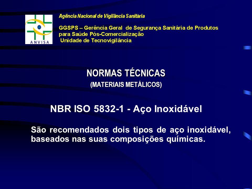 (MATERIAIS METÁLICOS) NBR ISO 5832-1 - Aço Inoxidável