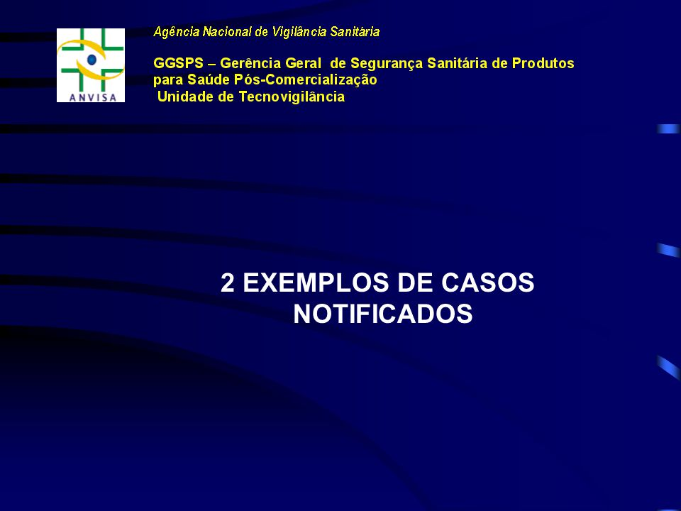 2 EXEMPLOS DE CASOS NOTIFICADOS