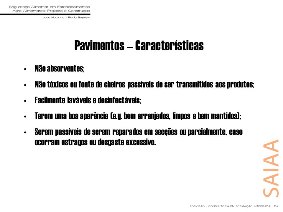 Pavimentos – Características