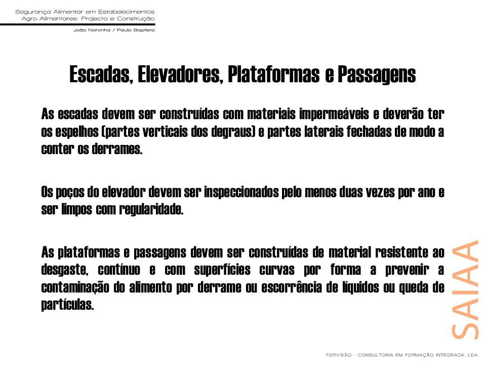Escadas, Elevadores, Plataformas e Passagens