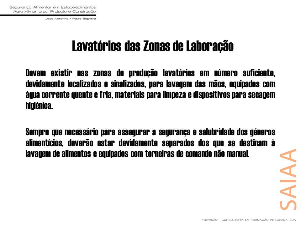 Lavatórios das Zonas de Laboração