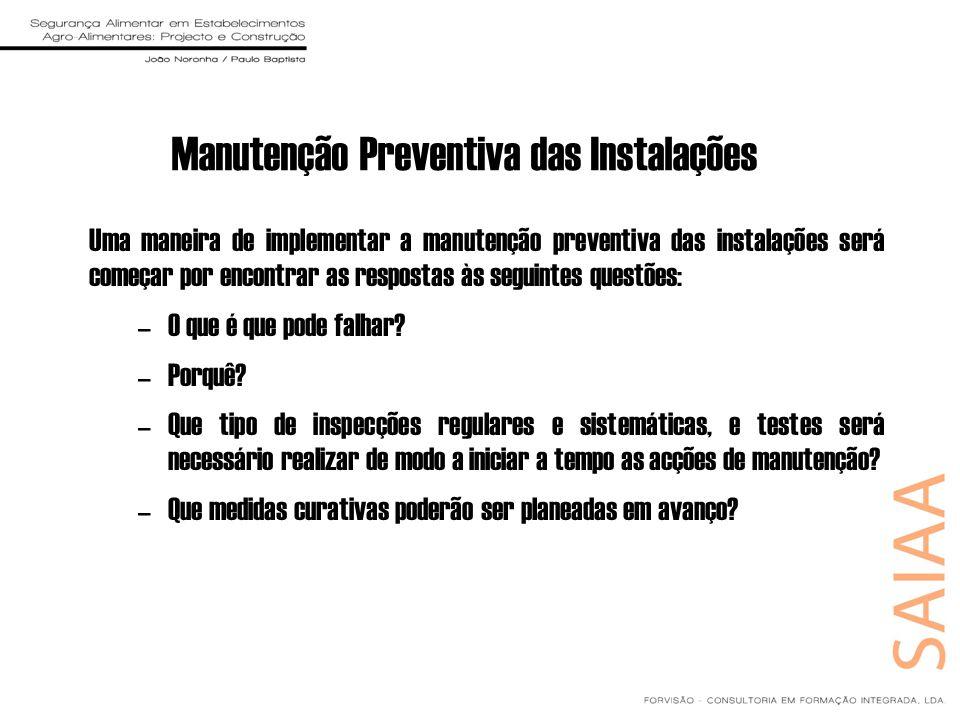 Manutenção Preventiva das Instalações