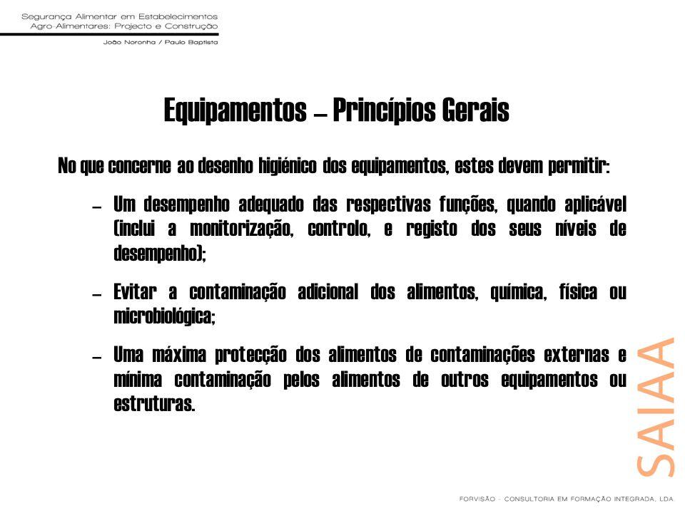 Equipamentos – Princípios Gerais