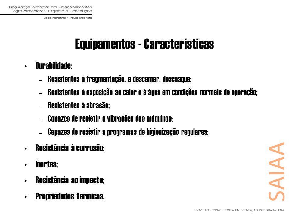 Equipamentos - Características