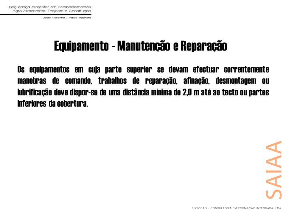 Equipamento - Manutenção e Reparação