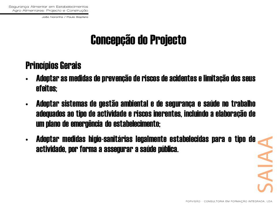 Concepção do Projecto Princípios Gerais