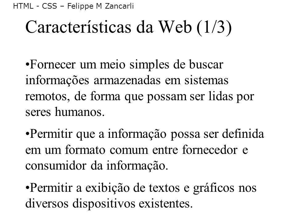 Características da Web (1/3)