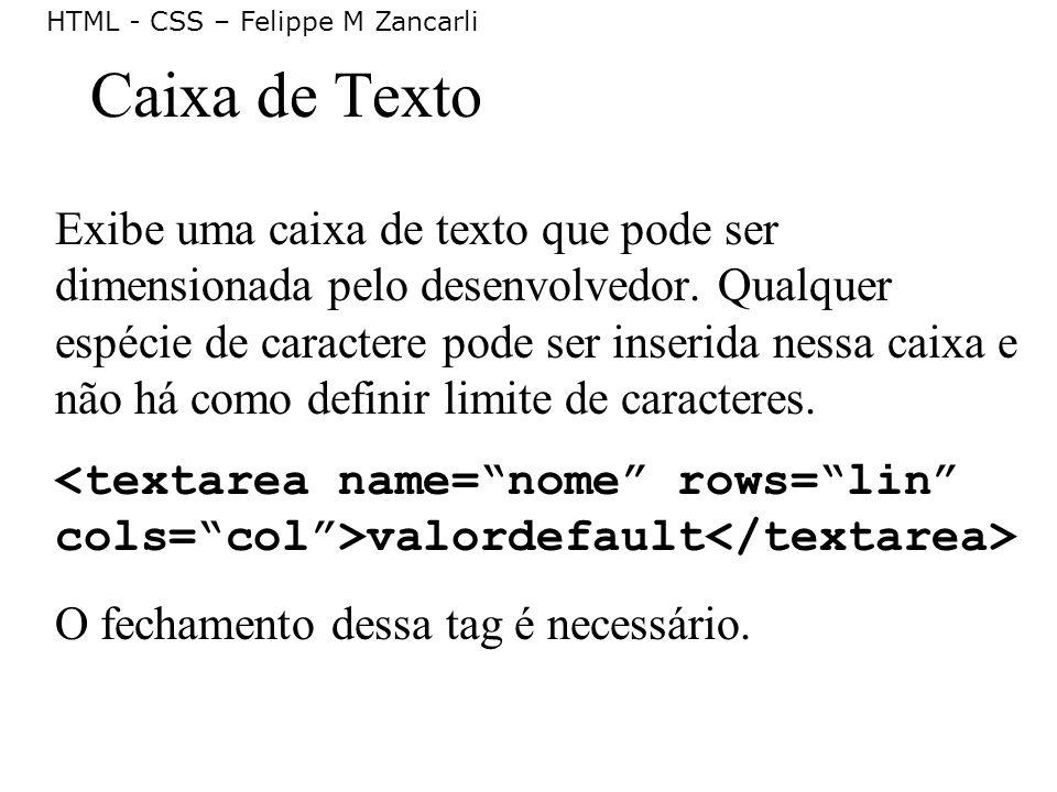 Caixa de Texto