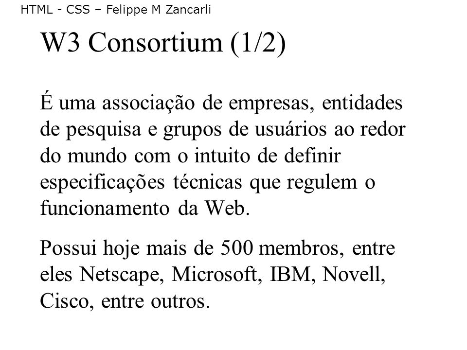 W3 Consortium (1/2)