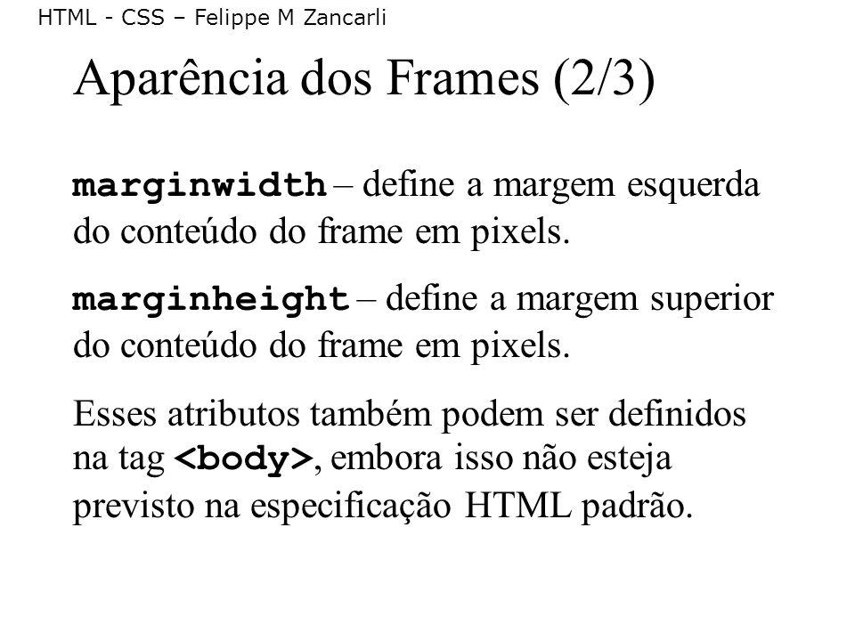 Aparência dos Frames (2/3)