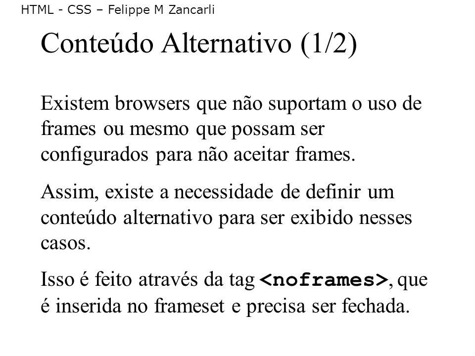 Conteúdo Alternativo (1/2)